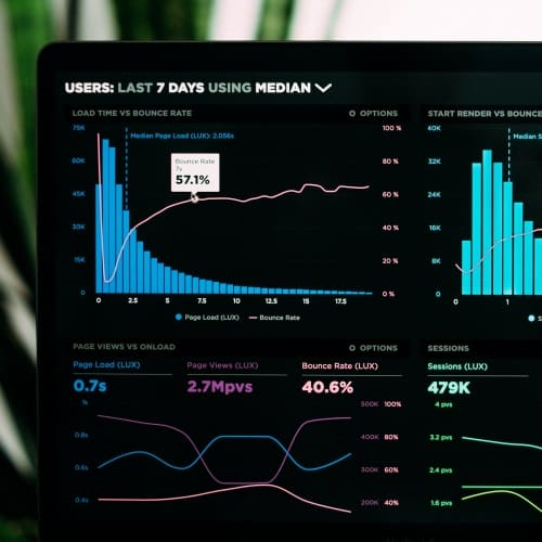 analytics dashboard screen
