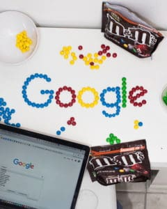 google logo out of m&ms