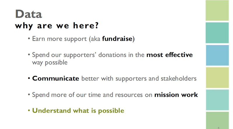 Data tools for nonprofits: goals